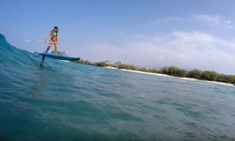 SUP Foiling on the Big Island