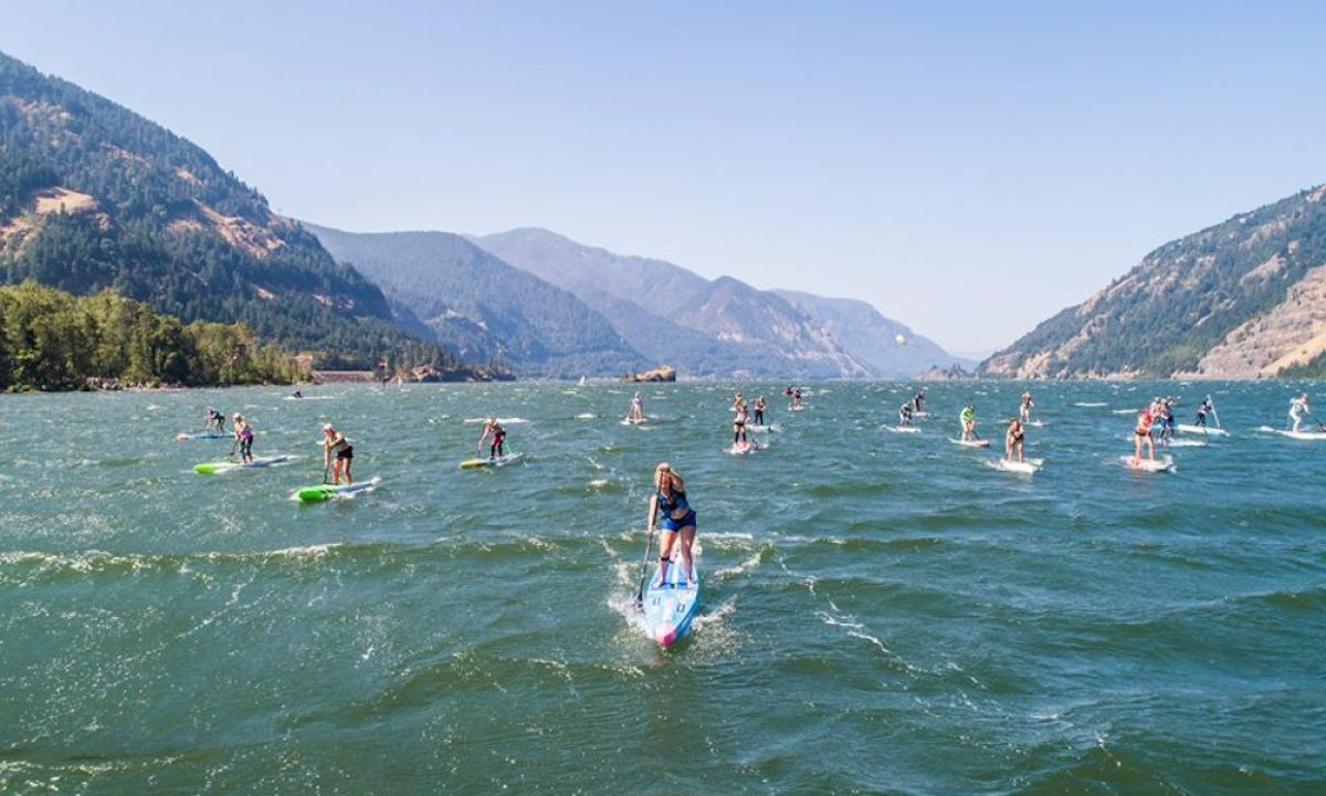 Grom Take Over at 2018 Gorge Paddle Challenge