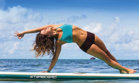 Dashama Gordon is one of the leading voices in the SUP Yoga movement.