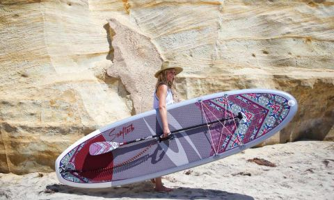 Surftech x prAna collab of Women-specific paddle boards. | Photo courtesy: Surftech