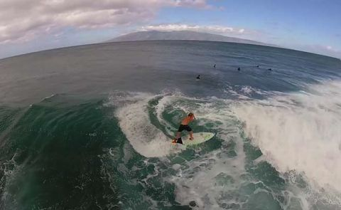 SUP Surfing With Zane Schweitzer From Aerial Drone