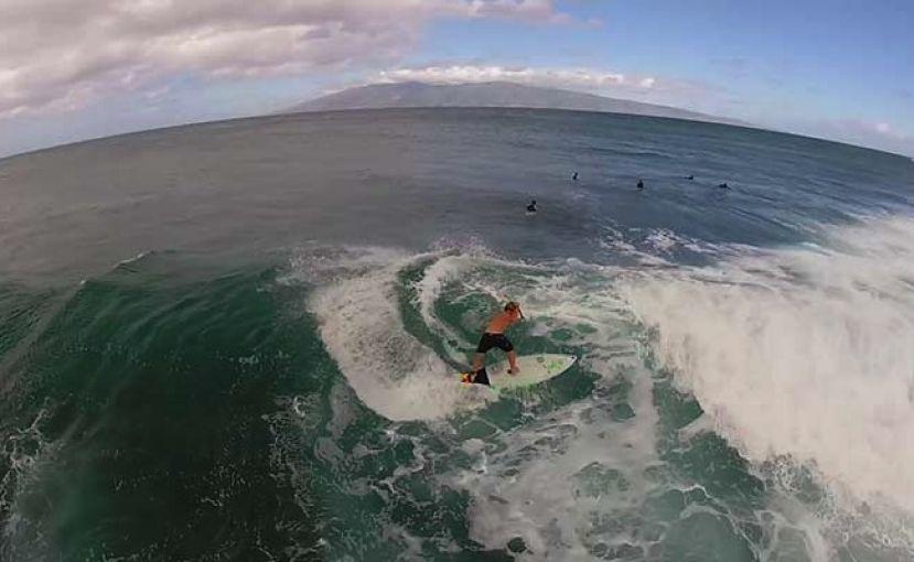 SUP Surfing With Zane Schweitzer From Aerial Drone