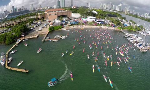 Aerial shot from the 2015 Standup for the Cure Miami event.