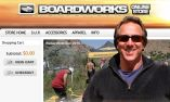 Mike Fox, owner of Boardworks, standing in front of his Online Store, somehow he made it into the virtual world!