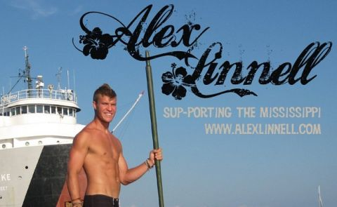 Alex Linnell SUP-PORTING the Mississippi