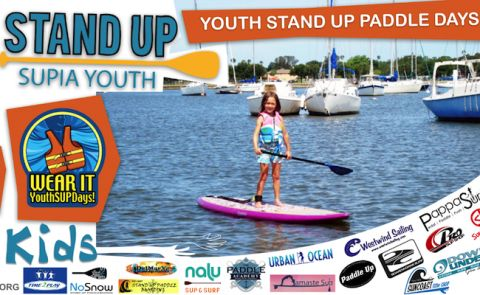 SUPIA's Youth Stand Up Paddle Days are this Weekend
