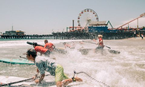 Santa Monica Pier Paddle Race 2017. | Photo Courtesy: Pier 360