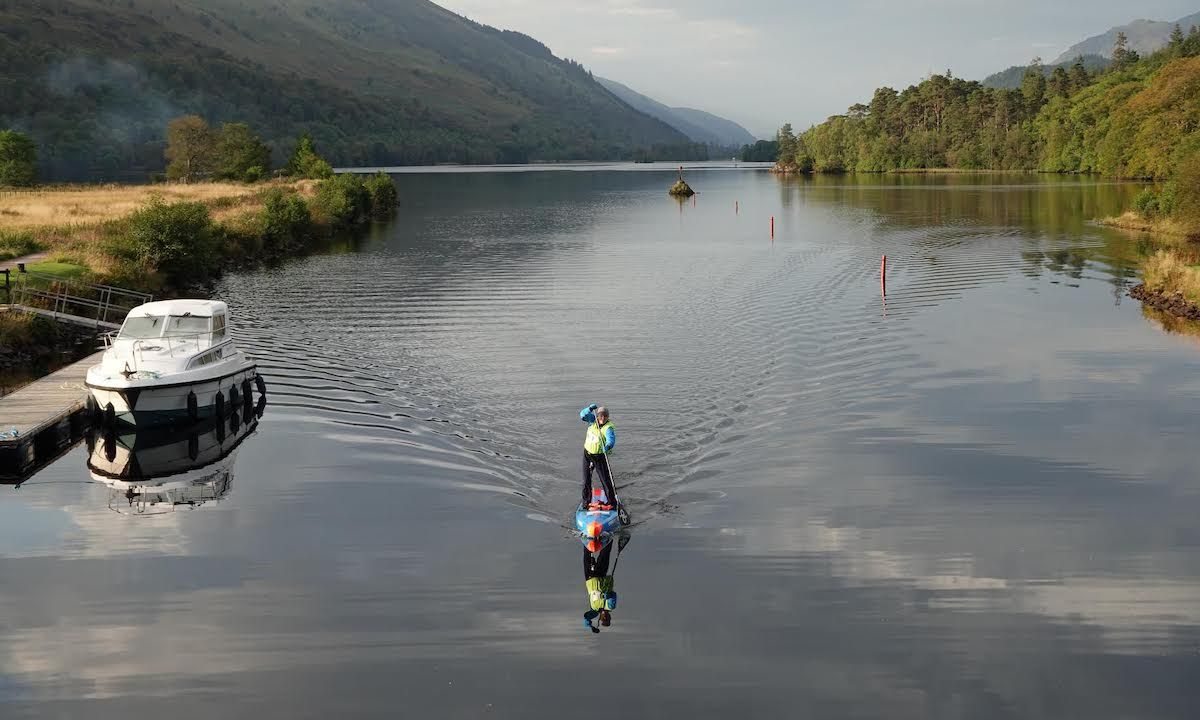 Adrian Angell paddling in Scotland. | Photo courtesy: David Triggs