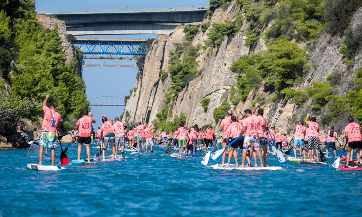 Photo courtesy: Corinth Canal SUP Crossing, 2018