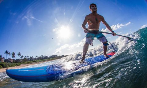 Zane Schweitzer, one of the best SUP surfers in the world. | Photo: Starboard / Georgia Schofield