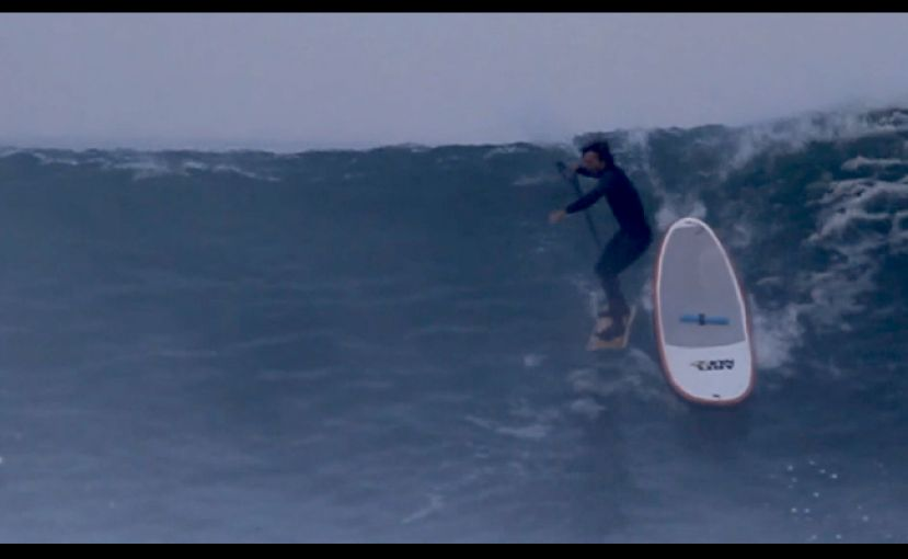French Surfer Uses SUP To Catch Big Waves On Alaia