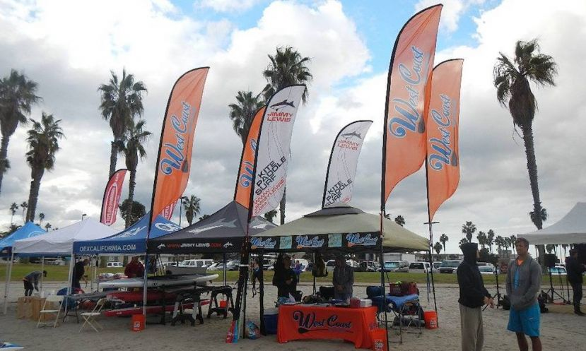 West Coast Paddle Sports representing at a local event in San Diego, CA. | Photo via: West Coast Paddle Sports