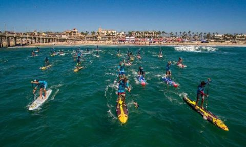 Men's Elite Race at the 2015 US Open of SUP. | Photo Courtesy: Waterman League