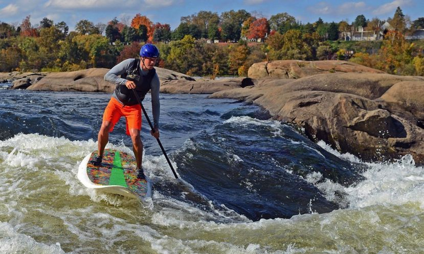 Ben Moore, navigating his way through the rapids.