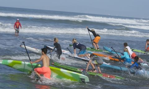 Last year's Boys race start at the SUP Fiesta. | Photo: Jerry Jarramillo