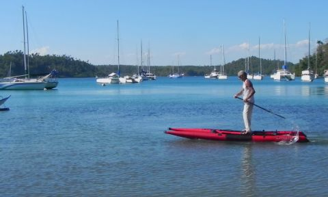 The Kayacat can be used as a SUP, kayak, sailing boat and more!