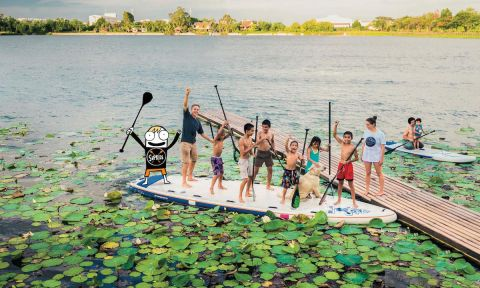 Starboard and SUPkids team up to teach kids how to take care of the oceans.