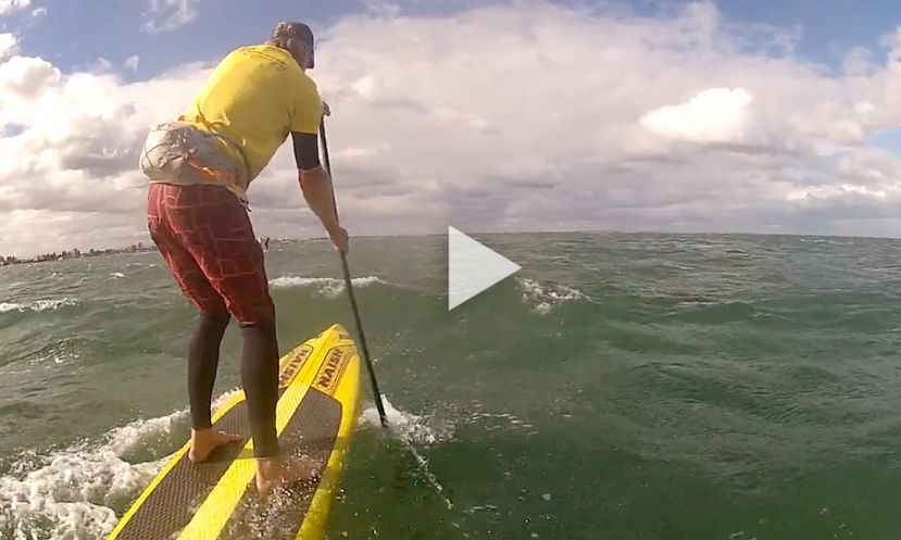 A Perfect Example Of Why Paddle Boarders Must Always Wear A Leash
