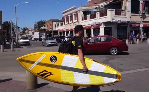 Beau Nixon SUP Surfing Huntington Beach