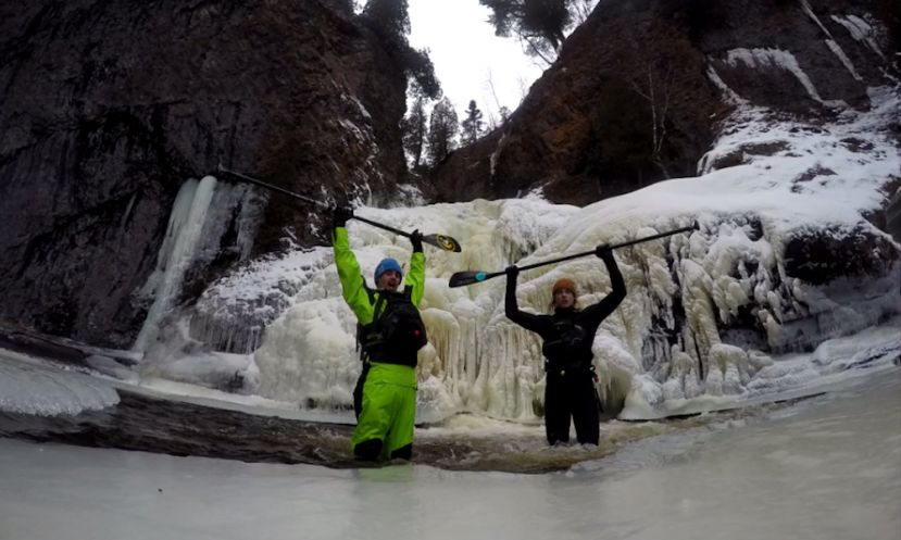 Video | Winter Paddle Boarding Lake Superior