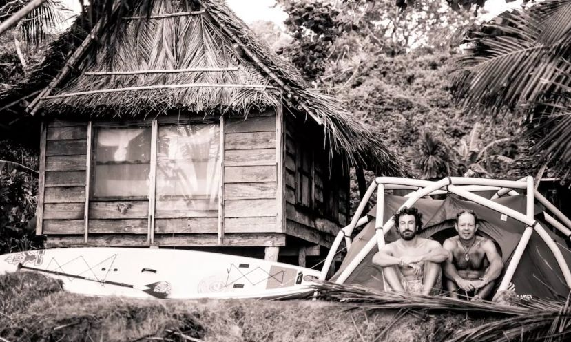 Franz Orsi and Bart de Zwart on Yap island in Micronesia. | Photo: Franz Orsi