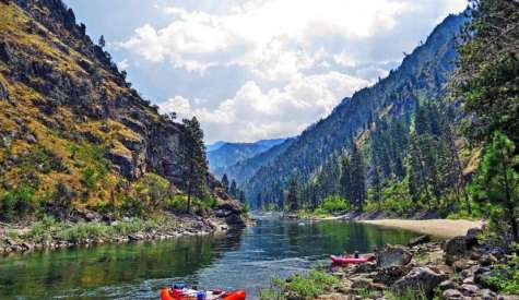 Paddle Boarding Central Idaho, U.S.A