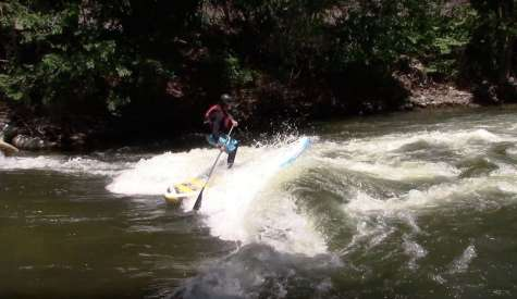 How To Punch Through A River Wave On A SUP