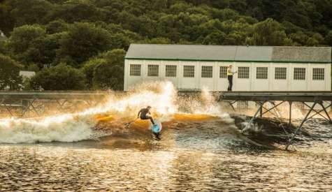 Starboard SUP Tests New Wavepark, Surf Snowdonia