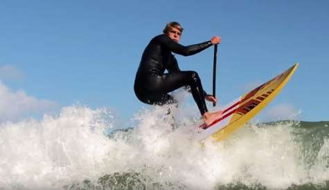 Casper Steinfath On SUP Surfing In Denmark