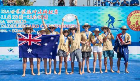 Australia's ISA Domination Continues with 6th Team Gold Medal