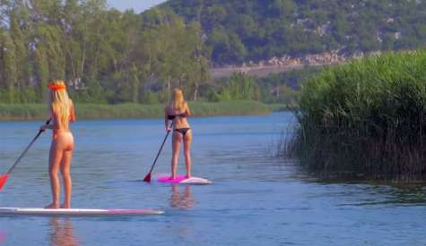 Paddle Boarding Bacina Lakes, Croatia